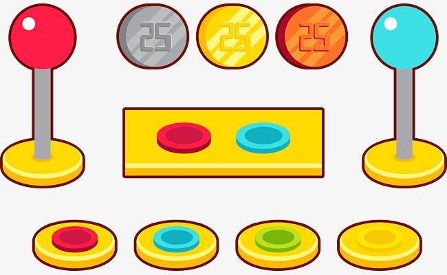 650x400 Arcade Button Vector Illustration, Button Vector, Arcade Button