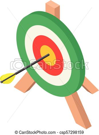 346x470 Colorful Archery Target Icon, Isometric Style. Colorful Archery