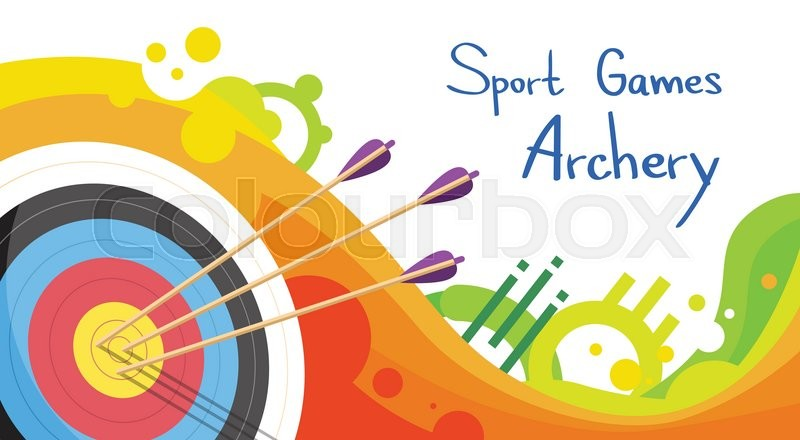 800x440 Archery Target With Arrows Archer Sport Game Competition Colorful