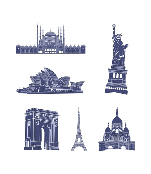 519x600 World Architecture Vector Free Vector In Coreldraw Cdr ( .cdr