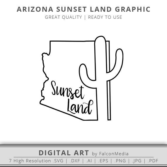570x570 Arizona Svg Sunset Land Svg Arizona State Svg Arizona Etsy