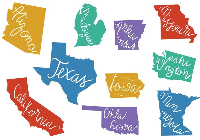 700x490 Free States Outlines Vectors