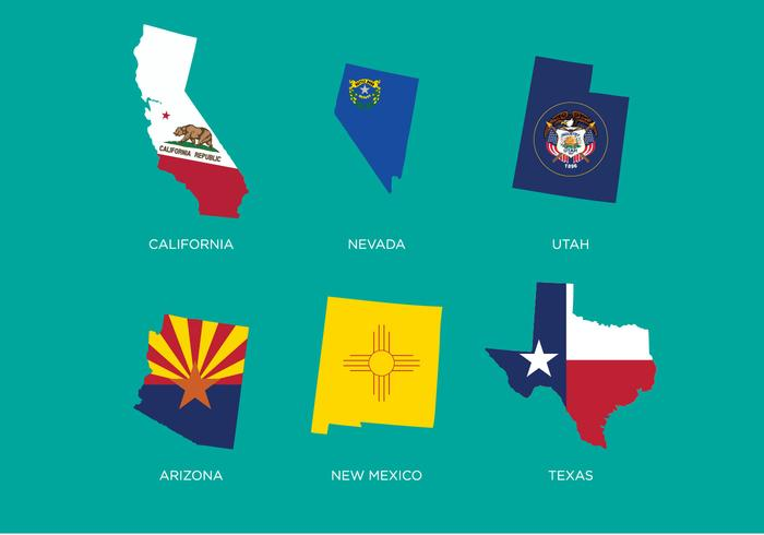 700x490 State Outlines Vector