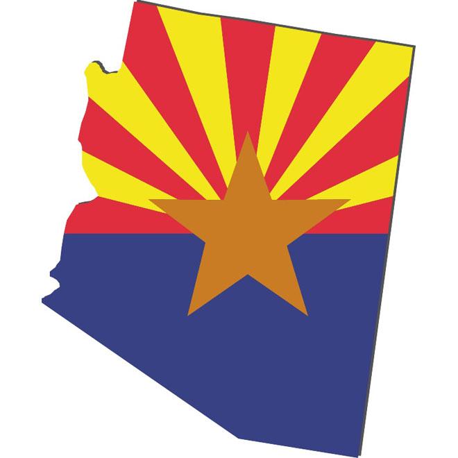 660x660 Vector Map Of Arizona