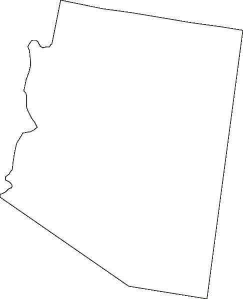 486x598 Arizona Outline Clip Art