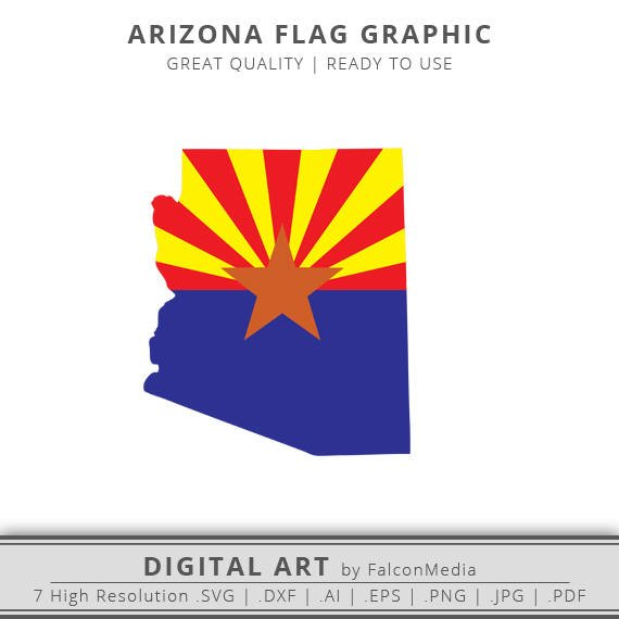 570x570 Arizona Svg Arizona Flag Svg Arizona State Outline Svg Etsy