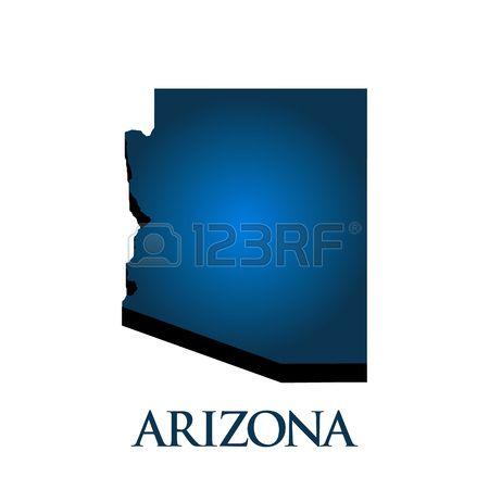 450x450 3d Graphic Map Of Arizona State Maps Arizona State