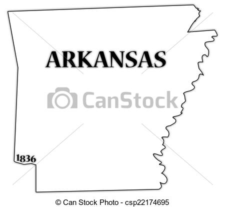 450x414 Arkansas State And Date. An Arkansas State Outline With The Date