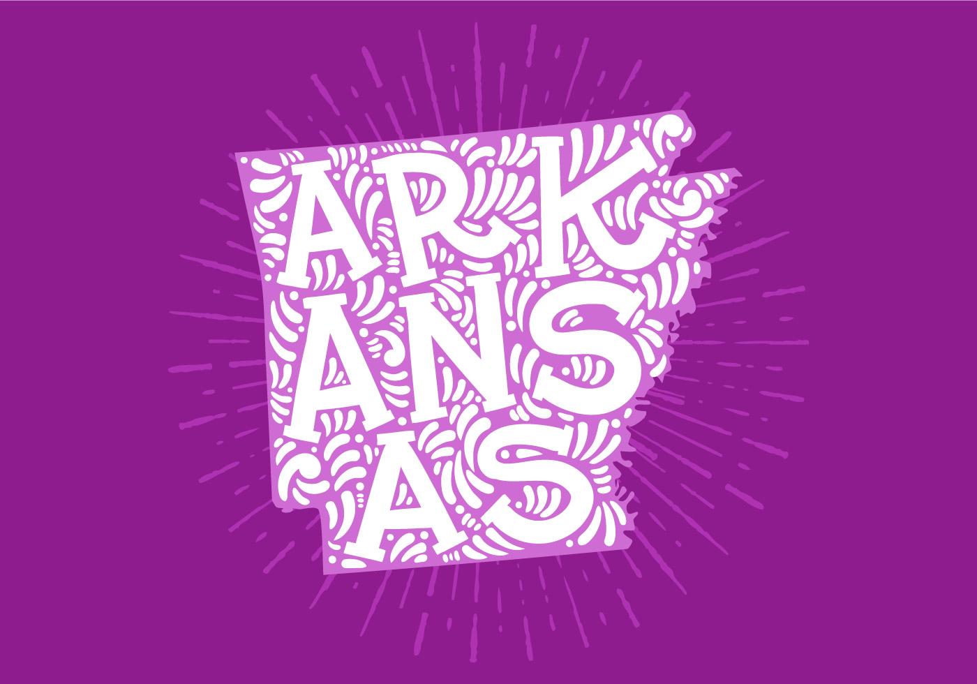 1400x980 Arkansas Free Vector Art