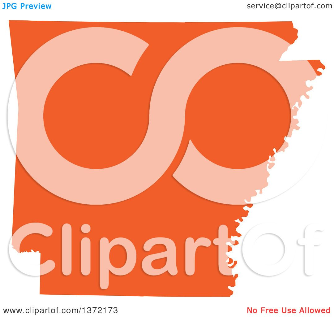 1080x1024 Clipart Of An Orange Silhouetted Map Shape Of The State Of