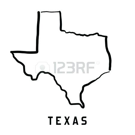 450x450 Map Outline Smooth Simplified Us State Shape Vector Illustration