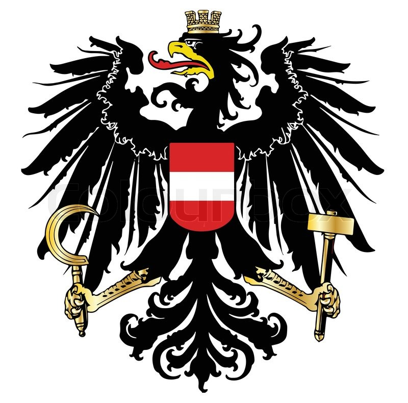 800x790 The Austrian Coat Of Arms Over A White Background Stock Vector