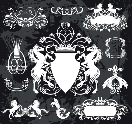 421x395 Black And White Heraldry Coat Of Arms Vector Free Vector In