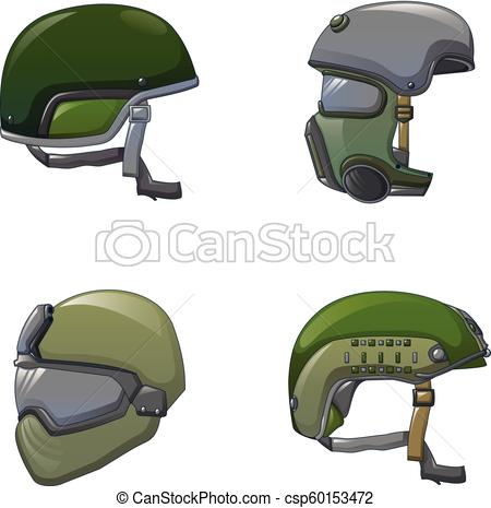 450x465 Army Helmet Soldier Icon Set, Cartoon Style. Army Helmet Soldier