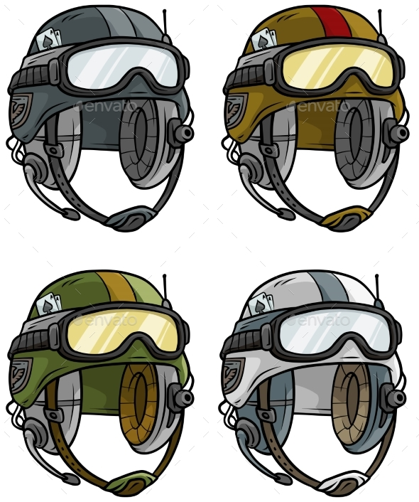 590x706 Cartoon Modern Army Helmet Vector Icon Set By Gb Art Graphicriver
