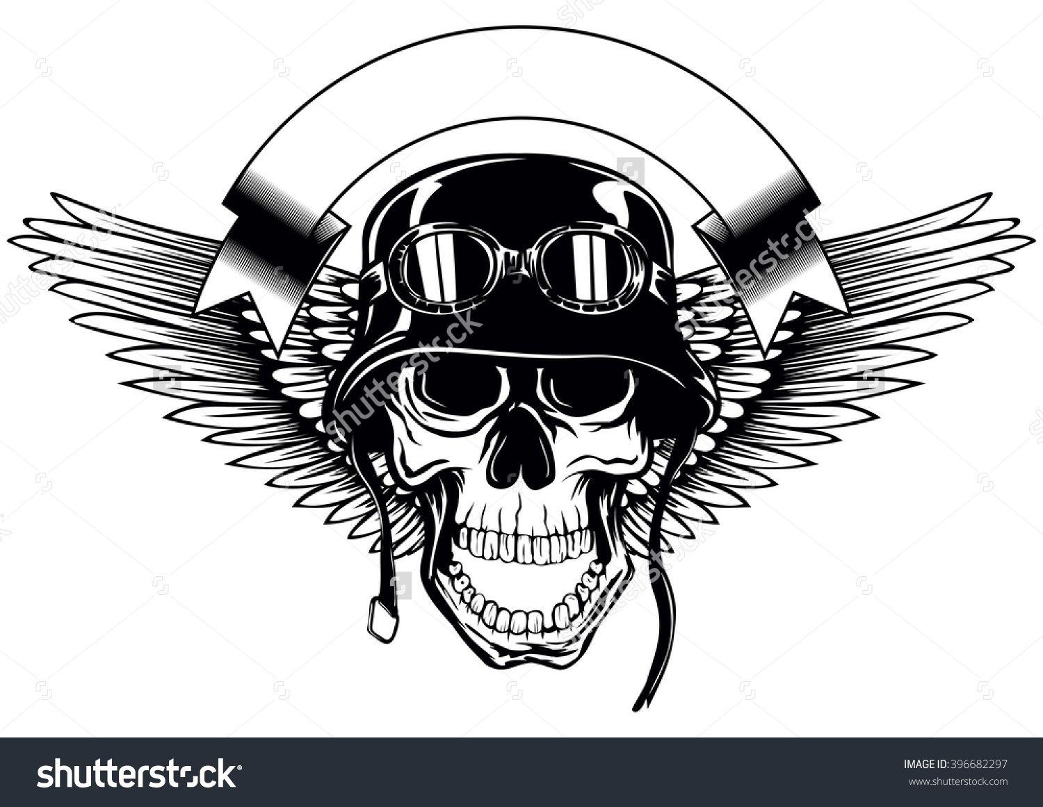 1500x1161 Abstract Vector Illustration Skull In Army Helmet With Goggles And