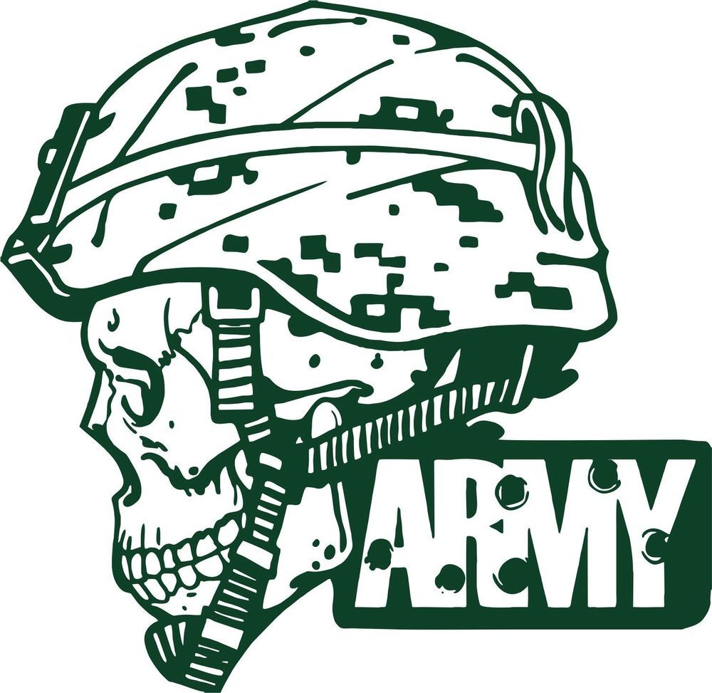 1000x973 Military Clipart Skull