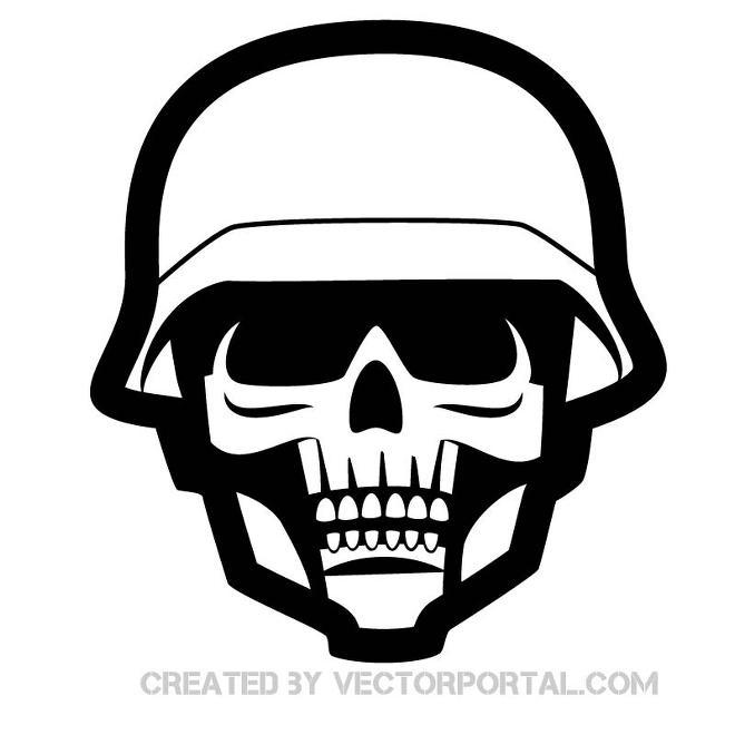 660x660 Skull In Military Helmet Free Vector Free Vectors Ui Download