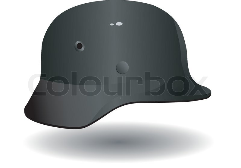 800x558 Vector German Military Helmet Stock Vector Colourbox