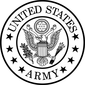 300x300 Army Seal Black And White
