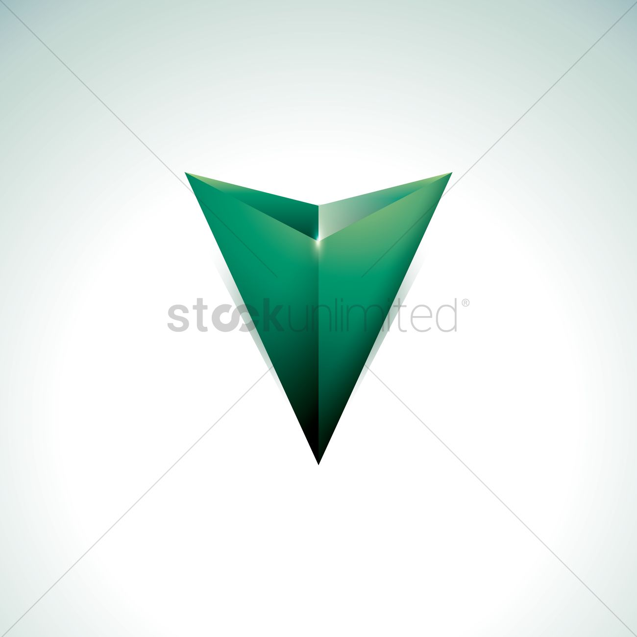 1300x1300 Downward Arrowhead Vector Image