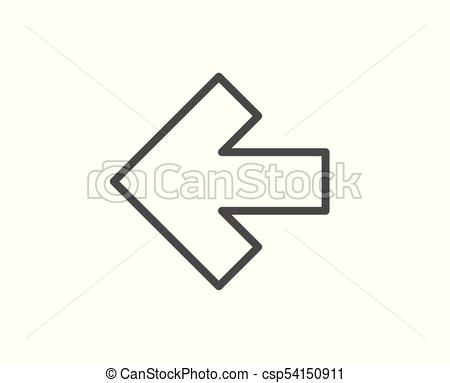 450x383 Left Arrow Line Icon. Direction Arrowhead. Left Arrow Line Icon