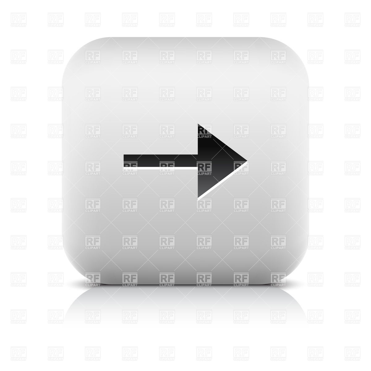 1200x1200 White Web Button With Arrowhead Vector Image Vector Artwork Of