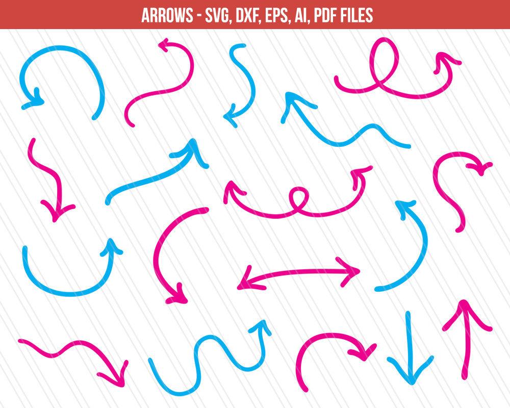 1000x800 Arrow Svg Cutting Files Dxf Arrow Vector Arrow For Etsy