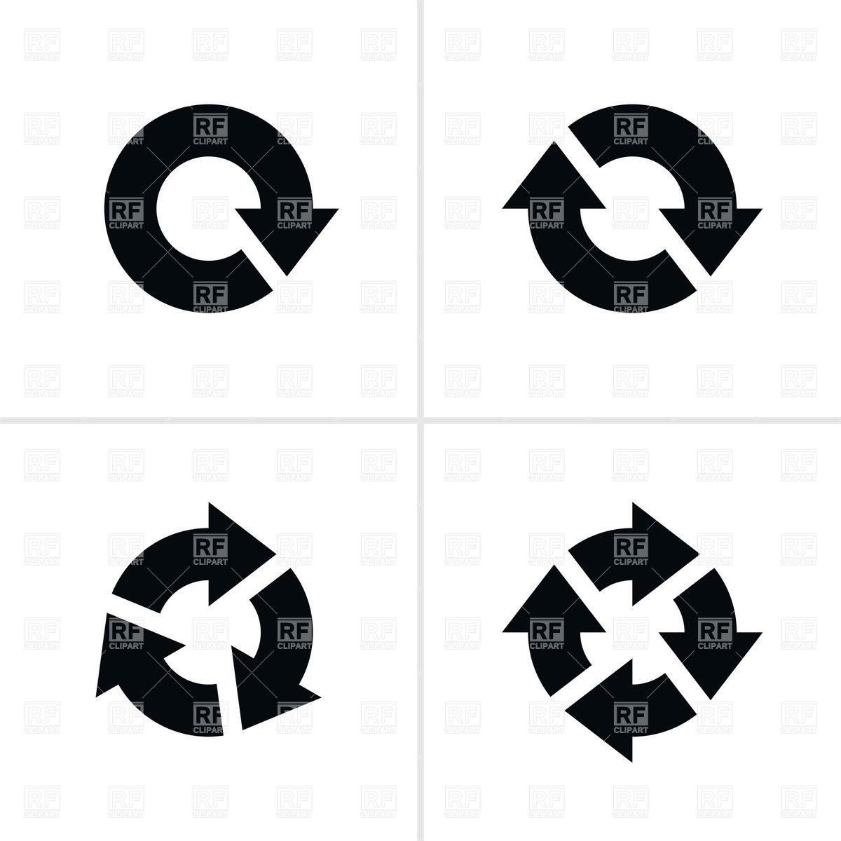 1200x1200 Simple Black Circular Arrows Vector Image Vector Artwork Of
