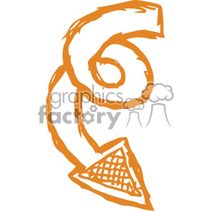 300x300 Royalty Free Spiral Arrow Vector Art 403268 Vector Clip Art Image
