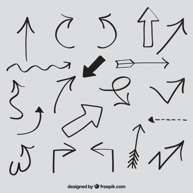 626x626 Sketchy Arrows Vector Free Download