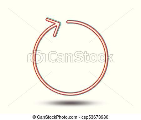 450x383 Loop Arrow Line Icon. Refresh Arrowhead. Loop Arrow Line Icon