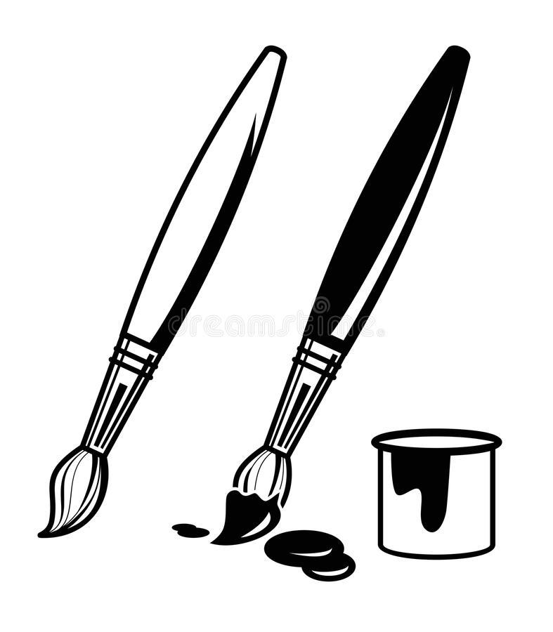 787x900 Black And White Paintbrush Clipart Amp Black And White Paintbrush