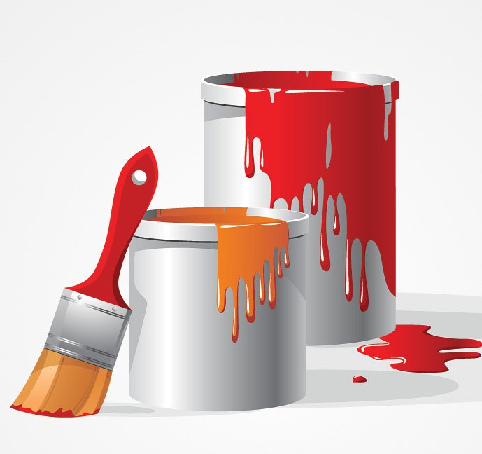 689x648 Free Paint Bucket Amp Brush Vector Clip Art (Free) Psd Files