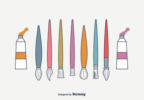 286x200 Paint Brush Free Vector Art