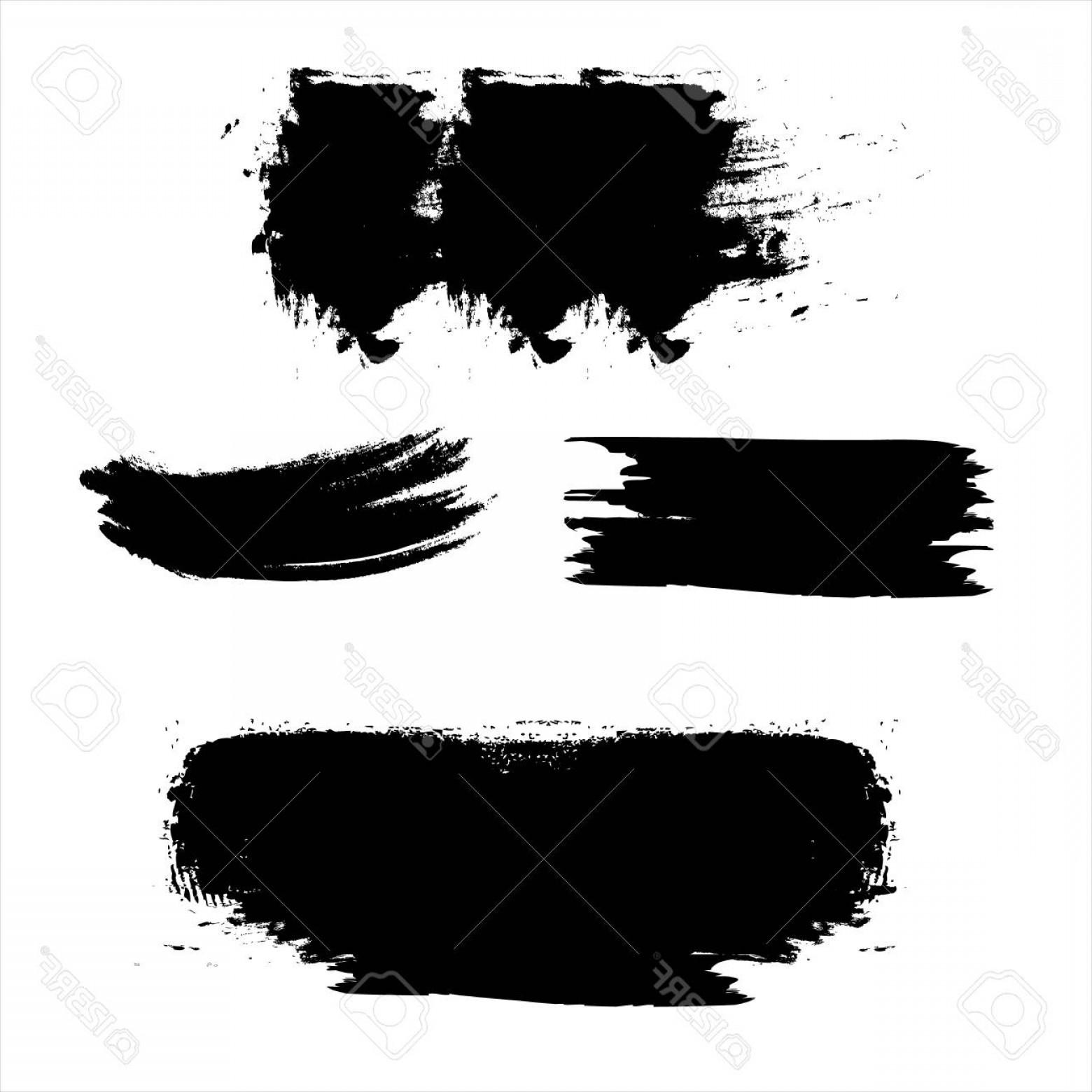 1560x1560 Photostock Vector Black Paint Brush Strokes Dirty Inked Grunge