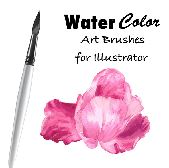 590x586 Watercolor Vector Art Brushes By Golubok Graphicriver