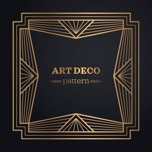 626x626 Art Deco Frame Background Vector Free Download