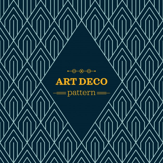 626x626 Dark Art Deco Pattern Vector Free Download