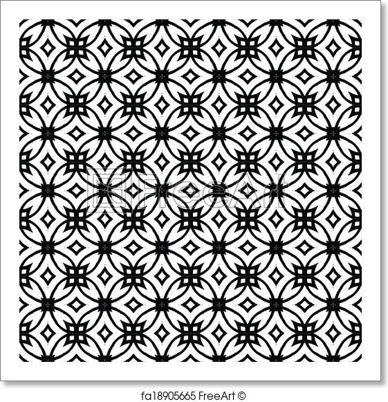 561x581 Free Art Print Of Vector Geometric Art Deco Pattern. Vector