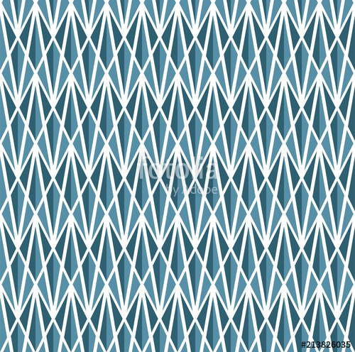 500x496 Geometric Blue Diamond Vector Seamless Pattern. Abstract Art Deco