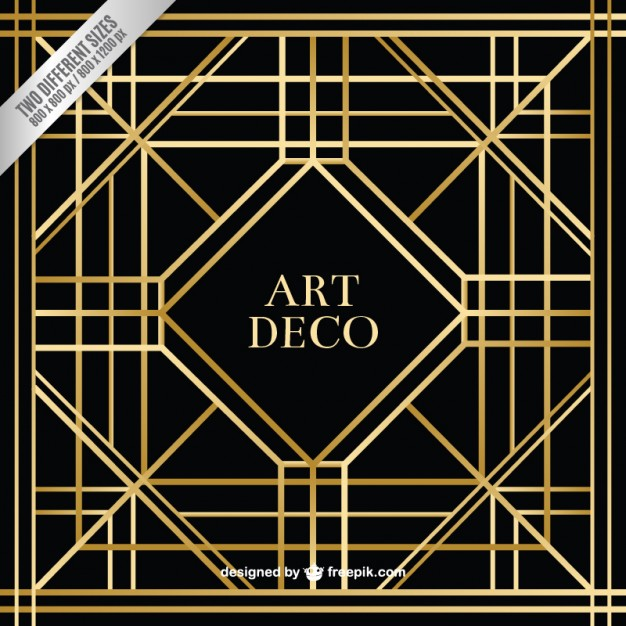626x626 Geometric Art Deco Background Vector Free Download