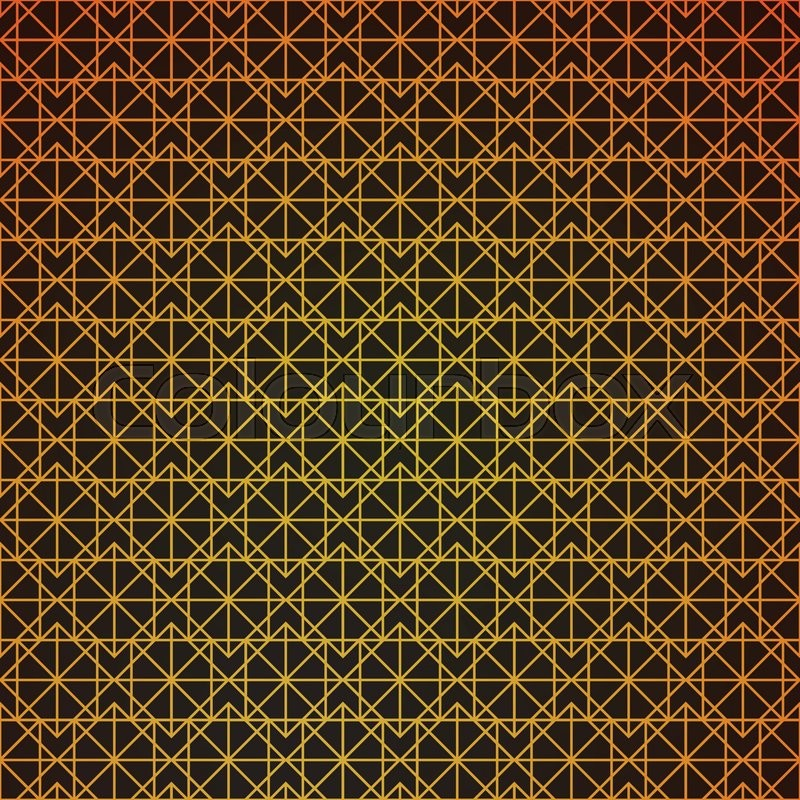 800x800 Gold Geometric Retro Abstract Seamless Cube Pattern With Rhombuses