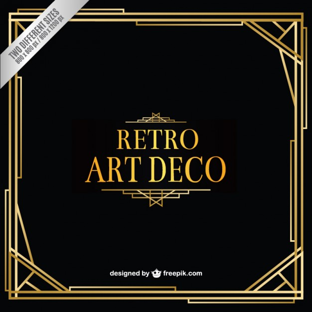626x626 Retro Art Deco Background Vector Free Download