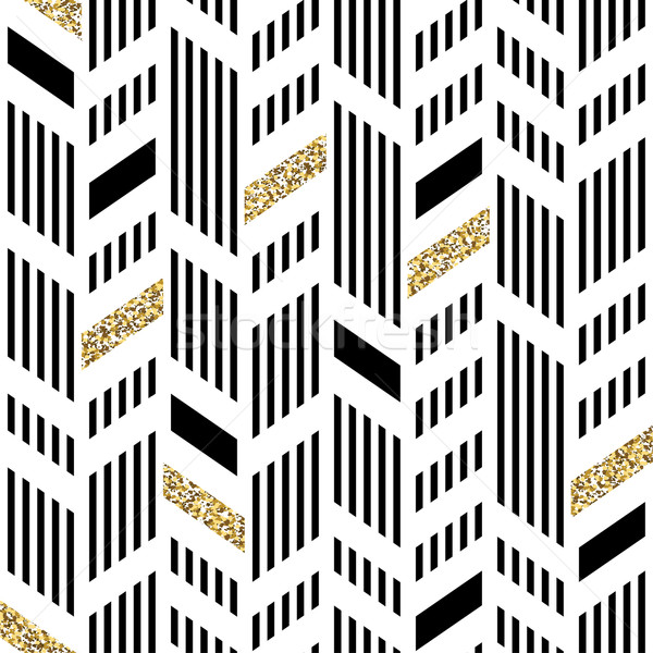 600x600 Seamless Chevron Pattern. Art Deco Abstract Background. Glitteri