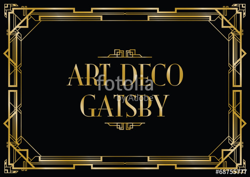 500x354 Gatsby Art Deco Background Stock Image And Royalty Free Vector