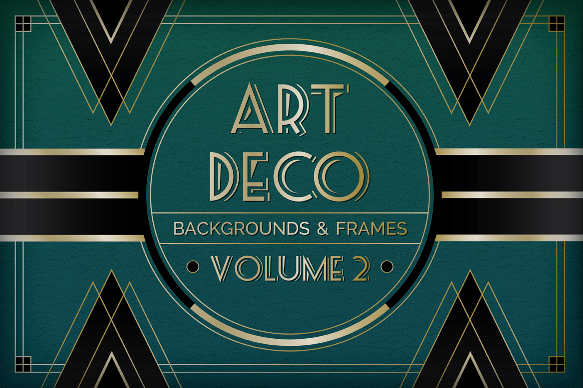 1160x772 Art Deco Backgrounds And Frames Vol 2
