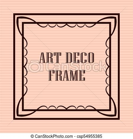 450x470 Art Deco Frame. Vintage Retro Frame In Art Deco Style.... Vector