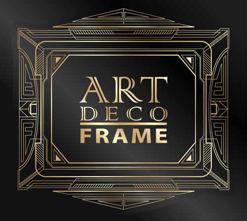 500x448 Retro Styles Art Deco Frames Vector Material 01 Free Download