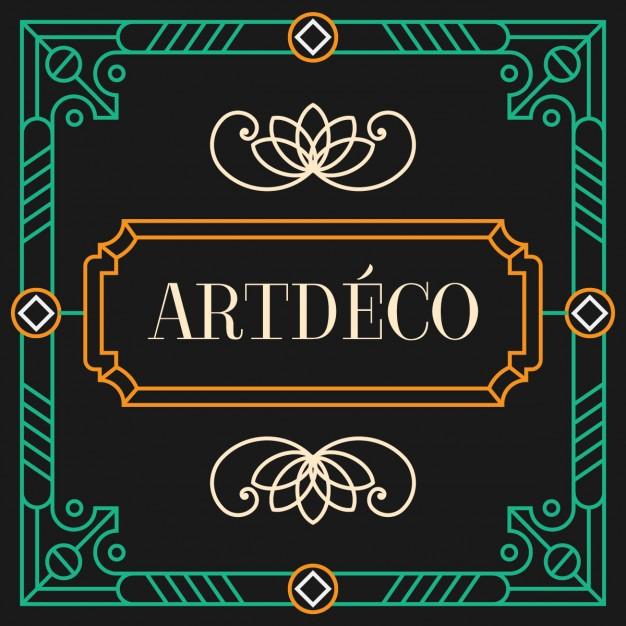 5732044987a Art Deco Frame Vector at GetDrawings.com